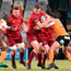 Robin Copeland of Munster on the attack during the Guinness PRO14 Round 20 match between Cheetahs and Munster at Toyota Stadium in Bloemfontein, South Africa