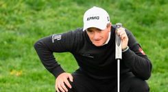 Paul Dunne is firmly in contention heading into the weekend in Spain. Photo: Getty Images