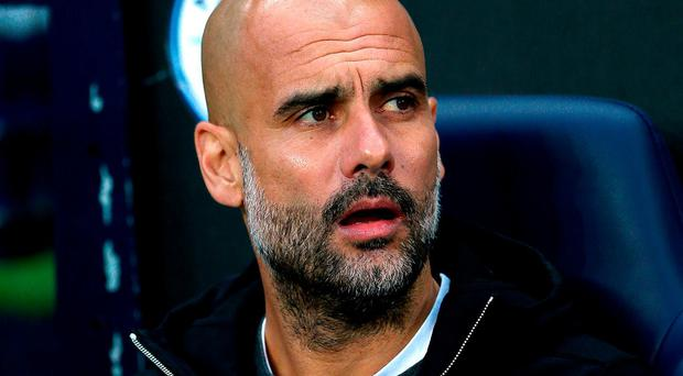 Manchester City manager Pep Guardiola. Photo: Tim Goode/PA Wire
