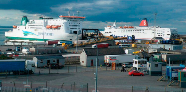 Rosslare Europort, where the confronttation happened