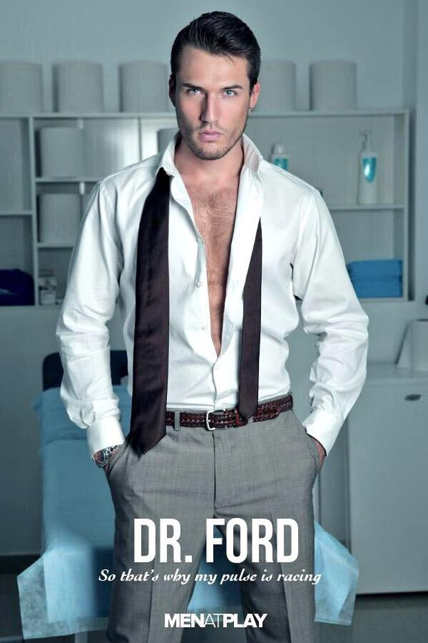 Theo Ford playing a doctor for a role