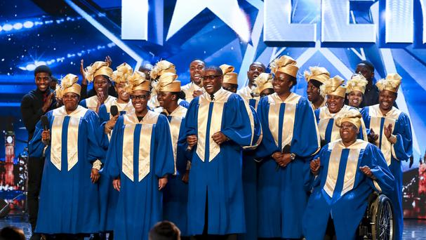 A gospel choir during the audition stage for Britain's Got Talent (Tom Dymond/Syco/Thames)