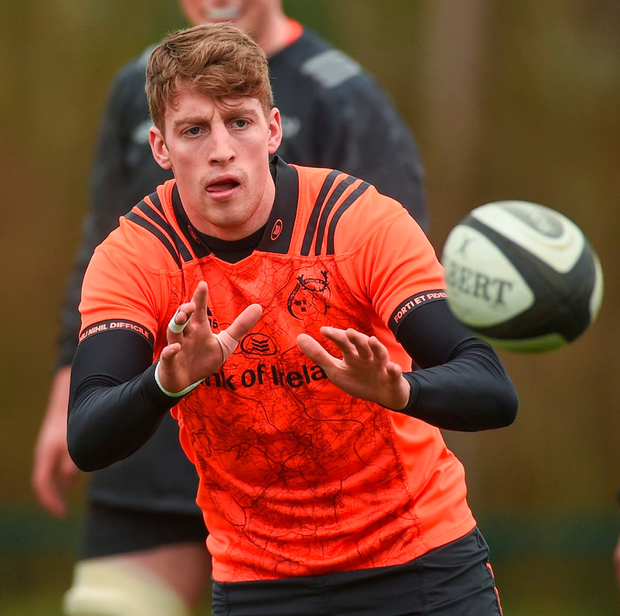 Munster Academy winger Liam Coombes scored a hat-trick in Garryowen's 48-21 win over St Mary's College. Photo: Diarmuid Greene/Sportsfile