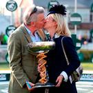 Winning owner Michael O'Leary and wife Anita celebrate