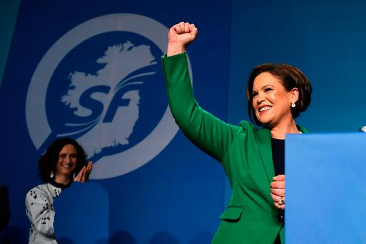 SF leader Mary Lou McDonald. Picture: Reuters