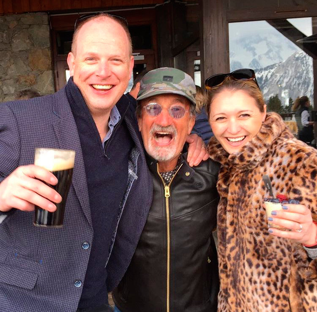 Eddie Jordan celebrates with close friends and family in ski resort Courchevel