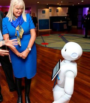 HERE TO SERVE: 'They are the reality', Mary Mitchell O'Connor meets a robot. But can it pull the perfect pint?