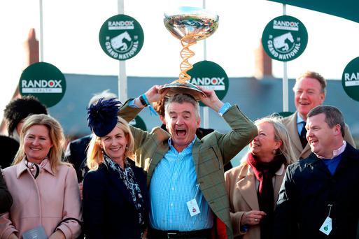 Ryanair boss Michael O'Leary offers passengers on one of his flights a 'free bar' after Grand National win… but only for one drink each