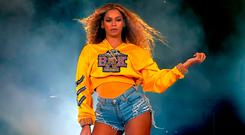 Beyonce Knowles performs onstage during 2018 Coachella Valley Music And Arts Festival Weekend 1 at the Empire Polo Field on April 14, 2018 in Indio, California. (Photo by Kevin Winter/Getty Images for Coachella)