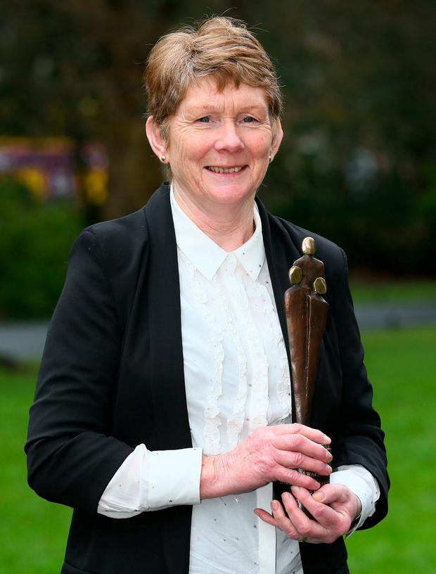 Tuam campaigner Catherine Corless with her People of the Year award. Photo: Frank McGrath
