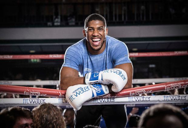 World heavyweight champion Anthony Joshua