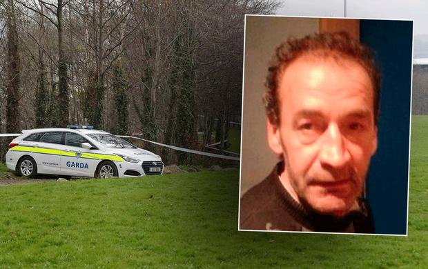 Fatal assault victim Ioan Artene Bob, from Romania (Also pictured, Sean Walsh Park in Tallaght)