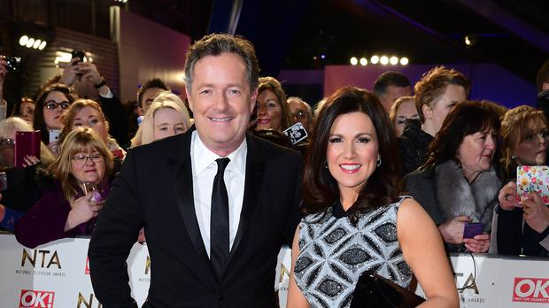 Piers Morgan and Susanna Reid had been on a break from GMB (Ian West/PA)