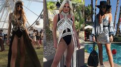 (L to R) Louise Cooney, Niamh Cullen, Erika Fox at Coachella