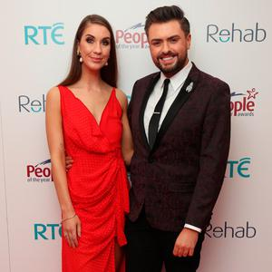 Clementine MacNiece and James Patrice at the Rehab People of the Year Awards. Picture: Robbie Reynolds