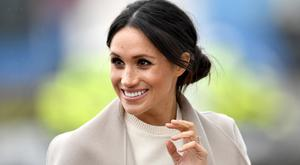 Meghan Markle is seen ahead of her visit to the iconic Titanic Belfast during her trip with Prince Harry to Northern Ireland on March 23, 2018 in Belfast, Northern Ireland, United Kingdom. (Photo by Charles McQuillan/Getty Images)