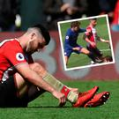 Shane Long and (inset) the Alonso incident