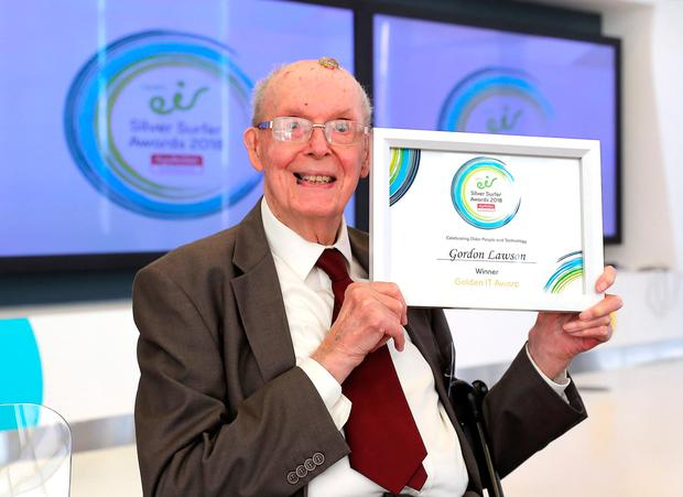 Award winner and retired RAF Pilot Gordon Lawson from Carrigtwohill in Co. Cork became interested in technology in his 80s