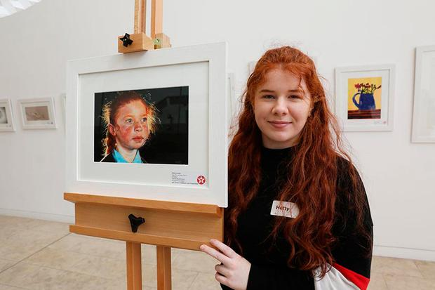 Hetty Lawlor (17), from Sacred Heart School, Kilmeena, Co Mayo, who won the overall top prize. Photo: Mac Innes Photography