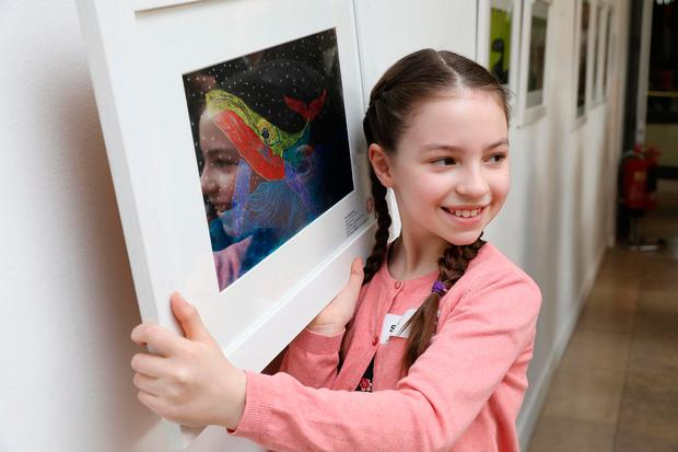 Sara Jagodzinska (9), from Scoil Mhuire Girls' NS, Lucan, who won third prize in the 9-11 year section. Photo: Mac Innes Photography