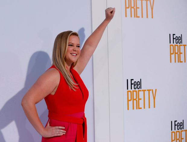 Cast member Amy Schumer poses at the premiere of