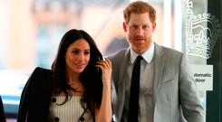 Prince Harry and Meghan Markle attend a reception with delegates from the Commonwealth Youth Forum at the Queen Elizabeth II Conference Centre, London, during the Commonwealth Heads of Government Meeting