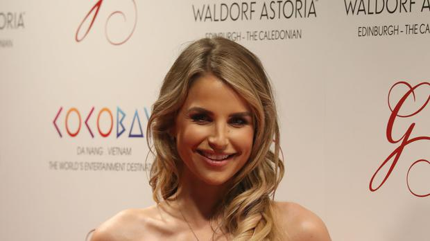 Model Vogue Williams shared two photos that show she is expecting (Andrew Milligan/PA)