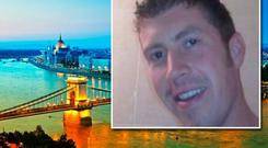 Michael Cuffe (32) went to the Hungarian capital last Friday with three friends for a weekend away but just hours after he arrived he was struck by a bus