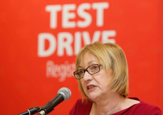 Motorists keen to switch to an electric model can compare almost 40 models and arrange a test drive at their local dealer at www.drivingelectric.ie. Pictured is Julie O'Neill of the Sustainable Energy Authority of Ireland at the website launch yesterday. Picture: RollingNews.ie