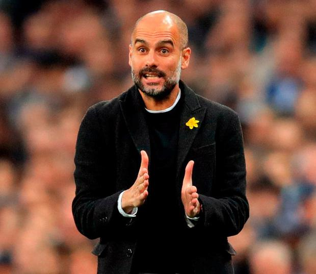 Manchester City manager Pep Guardiola. Photo: Adam Davy/PA Wire