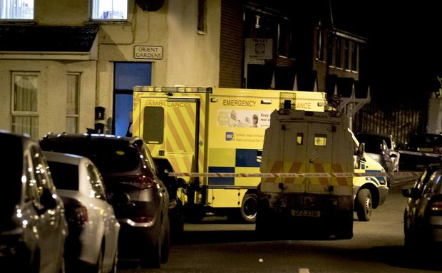 Police at the scene of a body find in the Orient Gardens area of north Belfast on (Photo by Kevin Scott / Belfast Telegraph)