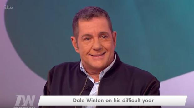 Dale Winton during his appearance on Loose Women in 2016