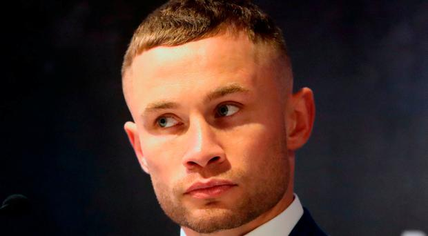 Carl Frampton during a press conference at the Europa Hotel, Belfast.