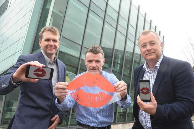 (L-R) Read my Lips! Richard McConnell and Liam McQuillan from Liopa are pictured with Hal Wilson, Partner, techstart NI