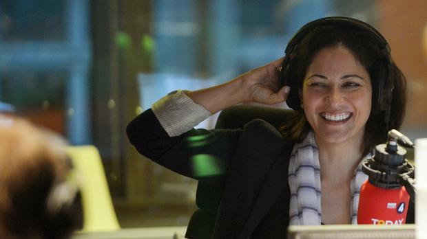 Mishal Husain in the BBC Radio 4 studios (PA)