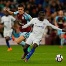 Chelsea's N'Golo Kante in action with Burnley's Jack Cork. Photo: Andrew Yates/Reuters