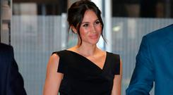 Meghan Markle attends the Women's Empowerment reception hosted by Foreign Secretary Boris Johnson during the Commonwealth Heads of Government Meeting at the Royal Aeronautical Society on April 19, 2018 in London, England. (Photo by Chris Jackson - WPA Pool/Getty Images)