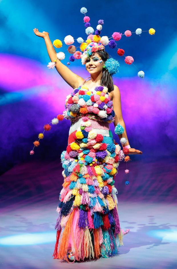 Students from schools across Ireland were pictured wearing creations fashioned from junk and recycled materials in rehearsals ahead of the Grand Final of Bank of Ireland Junk Kouture 2018 at the 3 Arena Dublin