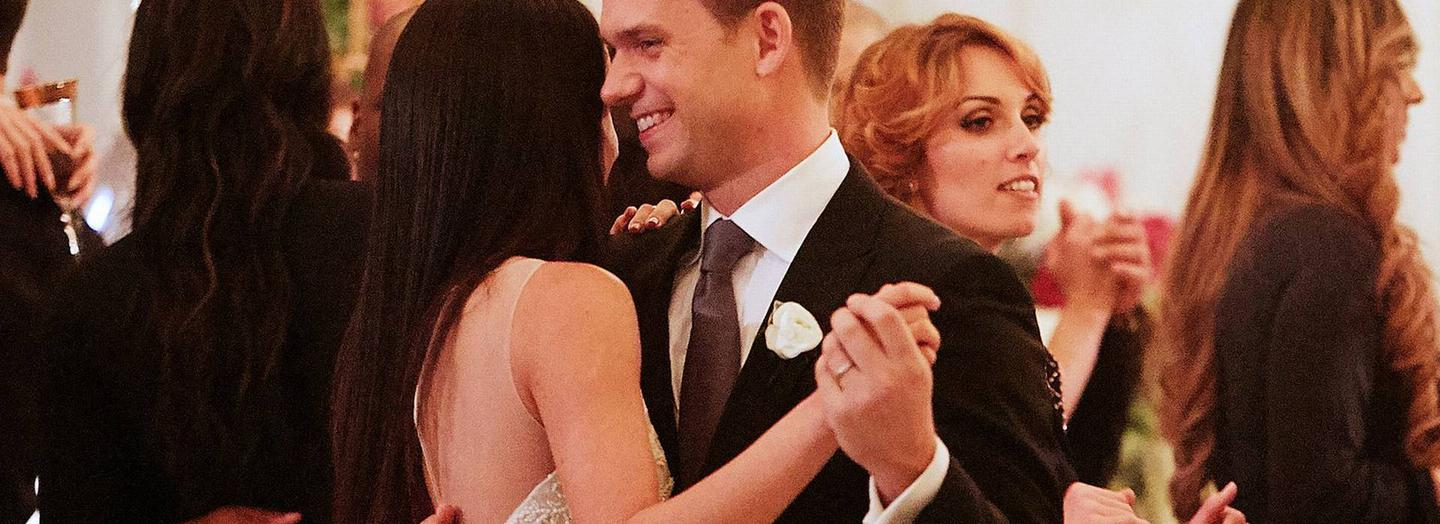 Meghan Markle's character Rachel Zane's wedding in the Suits series seven finale | Photo: Ian Watson / Courtesy of USA Network