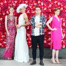 Umit Kutluk, pictured with models, launches his boutique at Kildare Village