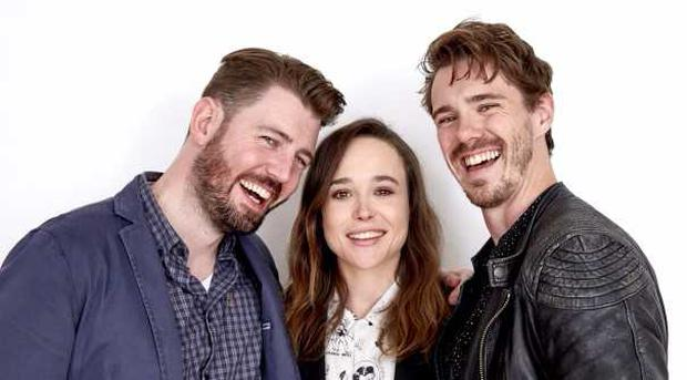 Director David Freyne with The Cured stars Ellen Page and Sam Keeley