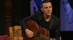 Nathan Carter on tonight's Late Late Show Country Special, RTE One, 9.35pm