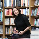 Countdown's Susie Dent in a library
