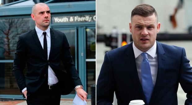 Darron Gibson and Anthony Stokes