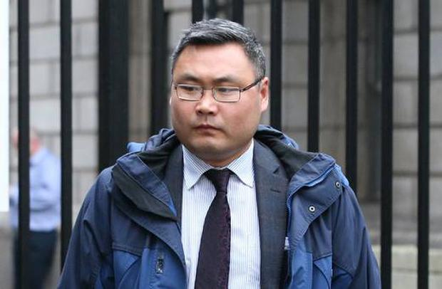 Garda Deming Gao pictured leaving the Four Courts in November 2017. Pic: Collins Courts
