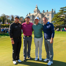 Shane Lowry, Padraig Harrington, Rory McIlroy and Paul McGinley after their challenge match at Adare Manor yesterday. Photo: Eóin Noonan/Sportsfile