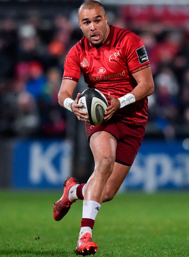 Munster's Simon Zebo. Photo: Sportsfile