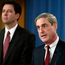 James Comey, left, and Robert Mueller. Photo: Getty Images