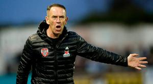 Derry City manager Kenny Shiels during the SSE Airtricity League Premier Division match between Dundalk and Derry City at Oriel Park in Dundalk, Louth. Photo by Oliver McVeigh/Sportsfile