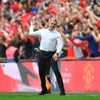 Jose Mourinho toasts Manchester United's win against Tottenham at Wembley